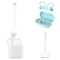 Pallet - 671 Pcs - In Ear Headphones, Lamps, Parts & Accessories, Other, Apple iPad - Customer Returns - Onn, Apple, One For All, Jabra