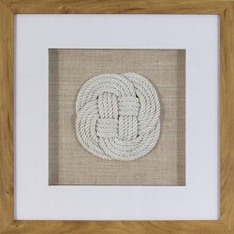 32 Pcs - Threshold Rope Knot Shadowbox Decorative Wall Sculpture White - Open Box Like New, New - Retail Ready