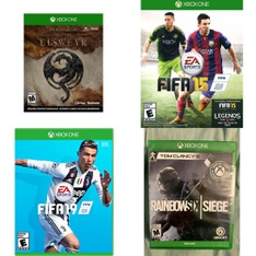 154 Pcs - Microsoft Video Games - New - The Elder Scrolls Online: Elsweyr (Xbox One), FIFA 19 - Standard (XB1), Tom Clancy's The Division 2 - Xbox One, Titanfall 2 (Xbox One)