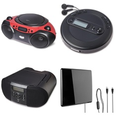 Pallet - 287 Pcs - Accessories, Boombox, Receivers, CD Players, Turntables - Customer Returns - onn., Onn, One For All
