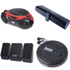 Pallet - 98 Pcs - Accessories, Speakers, Boombox - Customer Returns - Onn, onn., One For All