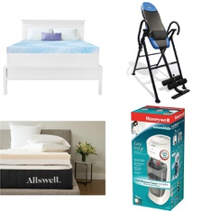 Pallet – 22 Pcs – Covers, Mattress Pads & Toppers, Hardware, Office – Customer Returns – Mainstay's, Dream Serenity, Allswell, Brinks