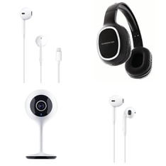 Pallet – 666 Pcs – In Ear Headphones, Security & Surveillance, Over Ear Headphones – Customer Returns – Apple, Merkury Innovations, Monster, MONSTER INC