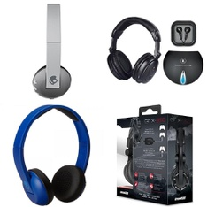 9 Pcs – Headphones & Portable Speakers – Refurbished (GRADE A) – Skullcandy, Innovi Technologies, DREAMGEAR, JBL
