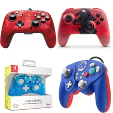 35 Pcs – Nintendo Controllers – Refurbished (GRADE A) – Models: 500-134-NA-CM04, 500-181-NA-NLBL, Nintendo Switch Wireless Super Mario Controller – Red, 500-100-NA-D6
