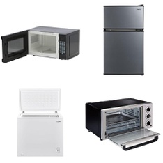 Pallet – 10 Pcs – Microwaves, Air Conditioners, Refrigerators – Customer Returns – Hamilton Beach, Curtis International, Danby, Arctic King