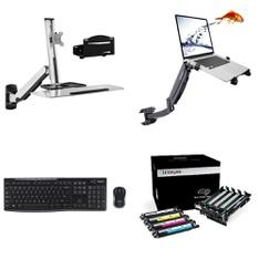 79 Pcs - Electronics Accessories - Customer Returns - Mount-It, Logitech, Brother, HP