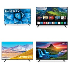 5 Pcs – LED/LCD TVs – Refurbished (GRADE C) – VIZIO, Samsung, LG