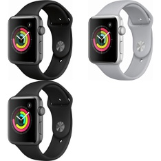 17 Pcs – Apple Watch -Series 3 – 42MM – GPS – GRADE D – Models: MTF32LL/A, MQL12LL/A, MQL02LL/A