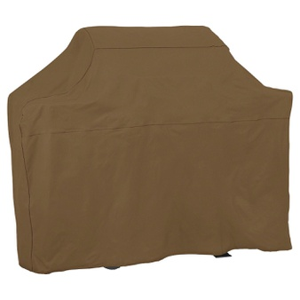 37 Pcs – Threshold Universal Grill Cover, Size: 72″, Tan – 100% Polyster – New, New Damaged Box – Retail Ready