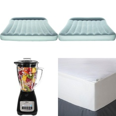 Pallet - 297 Pcs - Covers, Mattress Pads & Toppers, Camping & Hiking, Food Processors, Blenders, Mixers & Ice Cream Makers, Vehicles, Trains & RC - Customer Returns - Mainstays, Bestway, Hyper Tough, Oster