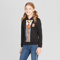 38 Pcs - Girls' Harry Potter Long Sleeve Sweatshirt - Black M - New - Retail Ready
