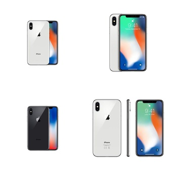 7 Pcs – Apple iPhone X – Refurbished (GRADE A – Unlocked) – Models: MQA62LL/A, MQA62LL/A – TF, MQA82LL/A, MQA52LL/A