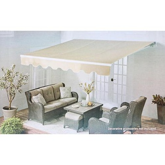 5 Pcs – Member's Mark 980138362 Retractable Patio Awning 20 x 10 Linen Tweed – New – Retail Ready