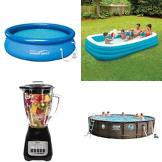 Half Truckload - 12 Pallets - 378 Pcs - Kitchen & Dining, Pools & Water Fun, Vacuums, Food Processors, Blenders, Mixers & Ice Cream Makers - Customer Returns - Oster, PolyGroup, Play Day, Coleman