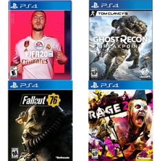 66 Pcs - Sony Video Games - Like New, New, Open Box Like New - FIFA 20 Standard Edition (PS4), Fallout 76(PS4), Tom Clancy's Ghost Recon Breakpoint PlayStation 4, FIFA 18 Standard Edition (PlayStation 4)