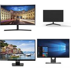 25 Pcs - Computer Monitors - Customer Returns - Samsung, HP, SCEPTRE, Onn
