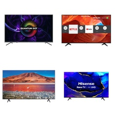 11 Pcs – LED/LCD TVs – Refurbished (GRADE A) – HISENSE, Samsung, SHARP, TCL
