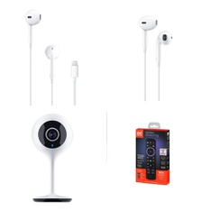 3 Pallets - 1724 Pcs - In Ear Headphones, Lamps, Parts & Accessories, Security & Surveillance, Chargers - Customer Returns - Apple, One For All, Merkury Innovations, Monster