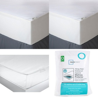 Pallet – 73 Pcs – Covers, Mattress Pads & Toppers, Comforters & Duvets, Kitchen & Dining, Safes – Customer Returns – Mainstays, Aller-Ease, American Textile, Aller Ease