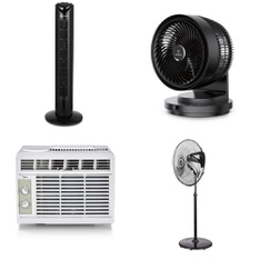 Pallet – 20 Pcs – Fans, Air Conditioners – Customer Returns – WESTINGHOUSE, Midea, Hamilton Beach, Honeywell