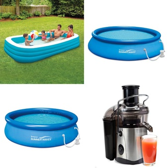 Truckload – 994 Pcs – Pools & Water Fun, Kitchen & Dining, Covers, Mattress Pads & Toppers, Vehicles, Trains & RC – Customer Returns – Play Day, Mainstays, PolyGroup, Summer Waves