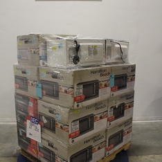 Pallet - 16 Pcs - Microwaves - Customer Returns - Hamilton Beach