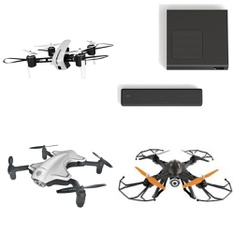 Pallet – 52 Pcs – Drones & Quadcopters Vehicles, DVD & Blu-ray Players, Portable Speakers, Speakers – Tested NOT WORKING – Protocol, Sony, Vivitar, Samsung