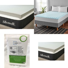 Pallet – 18 Pcs – Covers, Mattress Pads & Toppers – Customer Returns – Allswell, Mainstays, Mainstay's
