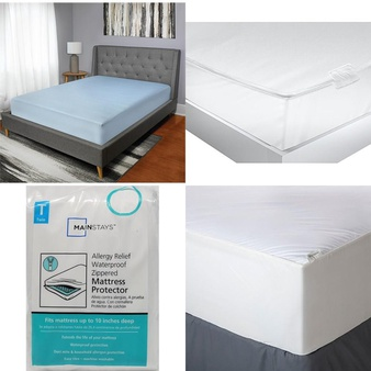 3 Pallets – 104 Pcs – Covers, Mattress Pads & Toppers, Comforters & Duvets, Bedding Sets, Accessories – Customer Returns – Mainstay's, Better Homes & Gardens, Aller-Ease, Select Surfaces