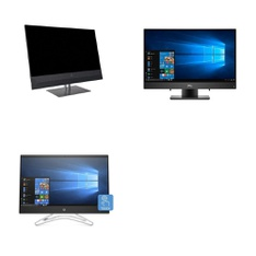 3 Pcs – Desktop & All In One Computers – Refurbished (#grade) – HP, DELL