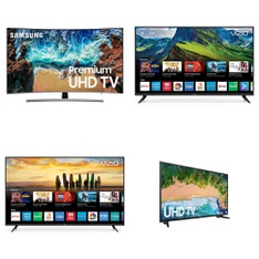 5 Pcs – LED/LCD TVs – Refurbished (GRADE C) – Samsung, VIZIO, TCL