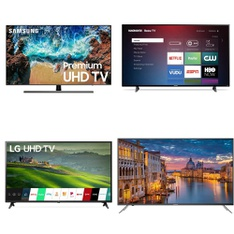 5 Pcs – LED/LCD TVs – Refurbished (GRADE C) – Samsung, MAGNAVOX, HITACHI, VIZIO
