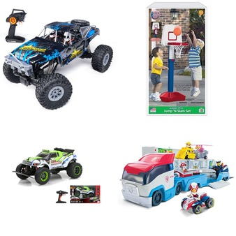 3 Pallets – 174 Pcs – Vehicles, Trains & RC, Action Figures, Not Powered – Customer Returns – New Bright, Adventure Force, Paw Patrol, American Plastic Toys