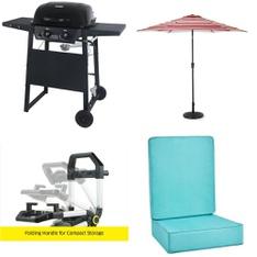 Pallet – 13 Pcs – Grills & Outdoor Cooking, Accessories – Customer Returns – HomeTrends, Uniflame, Karcher, Backyard Grill