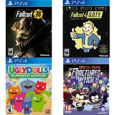 16 Pcs – Sony Video Games – New, Open Box Like New – Fallout 76(PS4), Ugly Dolls: An Imperfect Adventure – PlayStation 4, Fallout 4 G.O.T.Y Edition, Override Mech City Brawl Super Charged Mega Edition (PS4)
