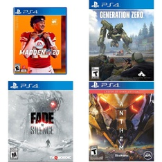 65 Pcs - Sony Video Games - Used, Like New, New - Madden NFL 20 (PS4), Fade to Silence (PS4), Generation Zero (PS4), Anthem: Legion of Dawn - PlayStation 4