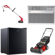 Pallet - 14 Pcs - Trimmers & Edgers, Air Conditioners - Customer Returns - Hyper Tough, Galanz, General Electric