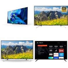 6 Pcs – LED/LCD TVs – Refurbished (GRADE A, No Stand) – Sony, Samsung, VIZIO, JVC