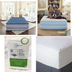 Pallet – 30 Pcs – Covers, Mattress Pads & Toppers, Comforters & Duvets – Customer Returns – Mainstay's, Beautyrest, Mainstays