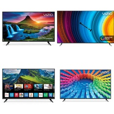 24 Pcs – LED/LCD TVs – Refurbished (GRADE A, GRADE B) – VIZIO, Samsung, TCL, onn.