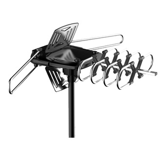 Clearance! 25 Pcs – ONN ONA18CH901 4K HD Motorized Outdoor TV Antenna with 150-Mile Range and Pole Mounting Kit – Brand New