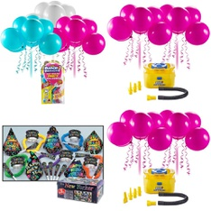 Pallet - 134 Pcs - Decorations & Favors, Stationery & Invitations, Patio & Outdoor Lighting / Decor - Customer Returns - Zuru Bunch O Balloons, Holiday Time, Party Central, ZURU BUNCH O BALLOONS PARTY