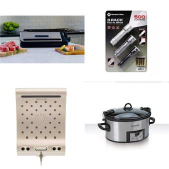 Pallet – 83 Pcs – Kitchen & Dining, Kitchen & Bath Fixtures, Camping & Hiking, Slow Cookers, Roasters, Rice Cookers & Steamers – Customer Returns – Foodsaver, Energy Technology Labs, Member's Mark, Crock-Pot