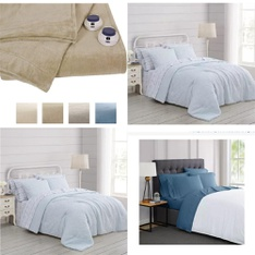 7 Pcs - Bedding - New - Retail Ready - Prairie by Rachel Ashwell, Serta, London Fog