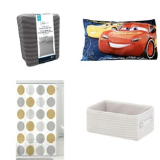 Pallet - 170 Pcs - Comforters & Duvets, Kitchen & Dining, Bath, Sheets, Pillowcases & Bed Skirts - Customer Returns - Mainstays, HomeTrends, Disney Cars, Minions