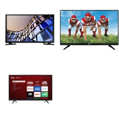 5 Pcs – LED/LCD TVs – Refurbished (GRADE A) – TCL, Samsung, RCA