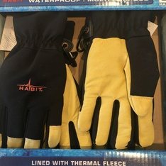 25 Pcs – Habit GSW2L Leather & Spandex All Purpose Work Gloves L 2 Pack – New – Retail Ready
