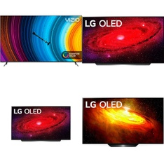 60 Pcs – LED/LCD TVs – Refurbished (GRADE A, GRADE B) – LG, VIZIO, Onn