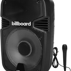 10 Pcs – Billboard Party Pro Bluetooth Powered Speaker – Wired Microphone Huge Sound USB TF Card and 1/4″ Mic Inputs – Refurbished (GRADE A, GRADE B)